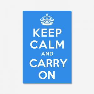 KEEP CALM AND CARRY ON_Sky Blue