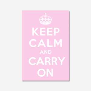 KEEP CALM AND CARRY ON_Pink